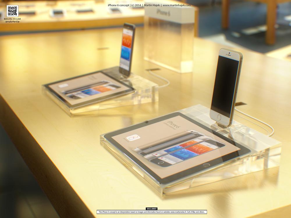 iPhone6concept Concept : liPhone 6 sinvite dans un Apple Store avant lheure