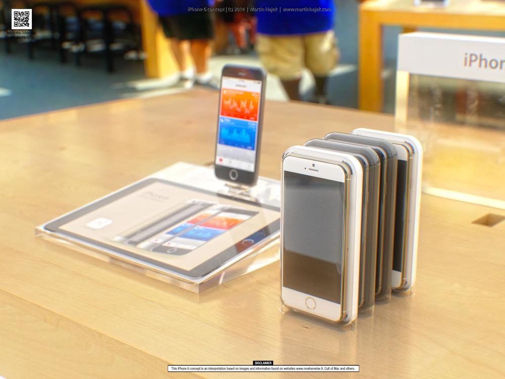 iPhone6concept 1 Concept : liPhone 6 sinvite dans un Apple Store avant lheure