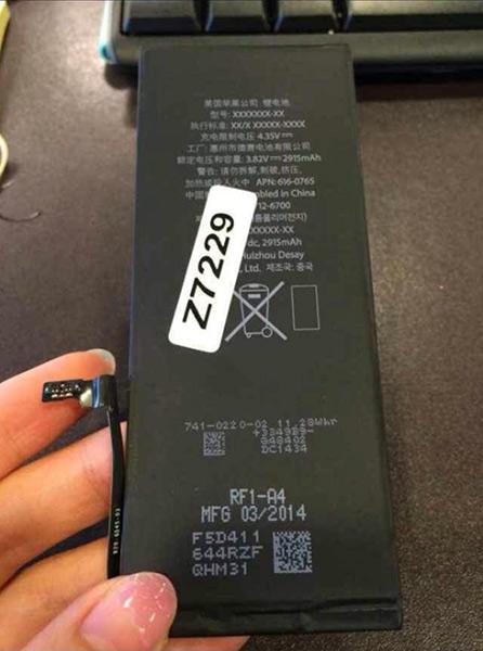 iphone 6 battery LiPhone 6L de 5,5 pouces aura une batterie de 2915 mAh ?