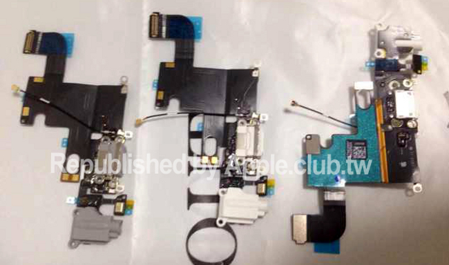 iphone 6 tail cable De nouvelles images de l'iPhone 6: écran avant arrière, logo…