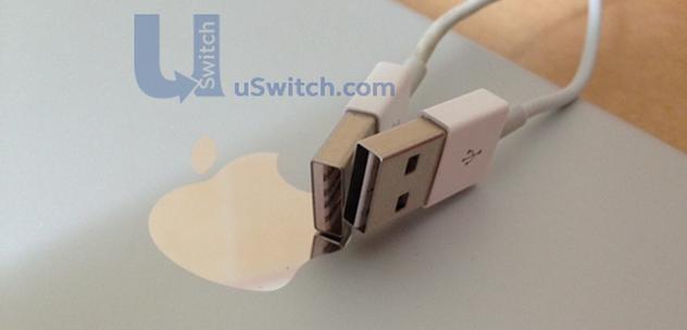 iphone 6 lightning cable on apple logo 632x304x32 expand Le nouveau câble Lightning réversible se montre en vidéo