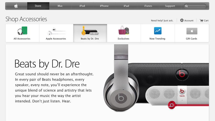 nouvelle section beats sur apple online store Beats a désormais une section spéciale sur lApple Online Store