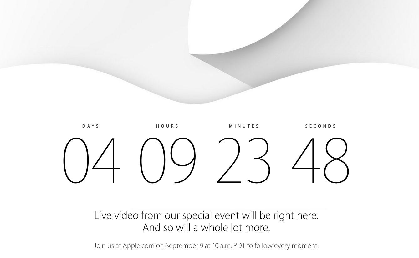 countdown keynote 2014 Keynote iPhone 6 : Le compte à rebours est lancé