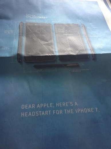 galaxy note 4 iphone 7 Samsung se moque (encore et encore) dApple