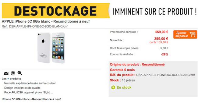 iPhone 5c reconditionnes Des iPhone 5C reconditionnés en vente à partir de 399 €