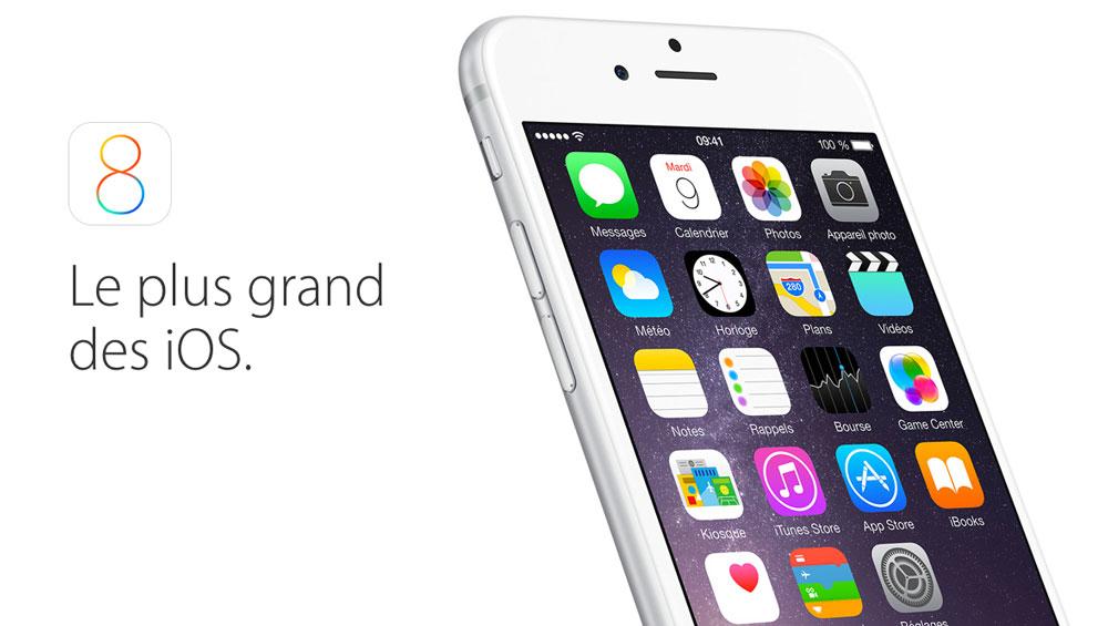 ios 8 [MAJ importante] iOS 8.0.1 est disponible