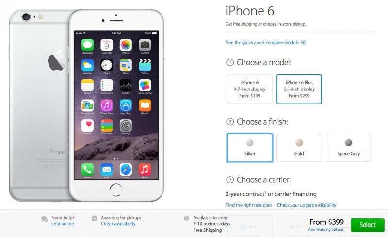precommande iphone6 plus en ligne Début des précommandes des iPhone 6 et iPhone 6 Plus via la boutique en ligne U.S. d'Apple