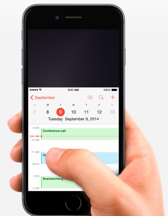 prise en main iphone 6 Le mode Reachability pour utiliser l'iPhone 6 d'une seule main
