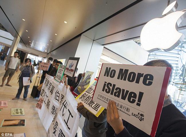 protestation Hong Kong Apple Store 1 Le lancement de l'iPhone 6 perturbé par des manifestants à Hong Kong