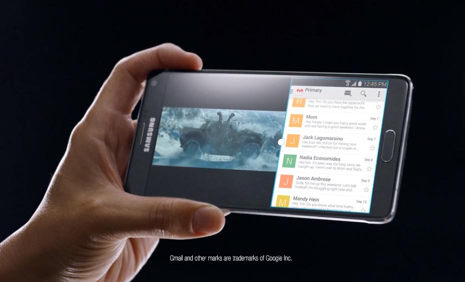pub galaxy note 4 Samsung se moque (encore et encore) dApple