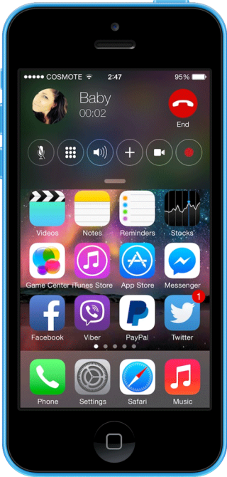 CallBar for iOS7 320x670 Cydia : CallBar for iOS 7 est disponible