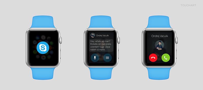 apple watch skype A quoi ressembleront les applications sur lApple Watch ?