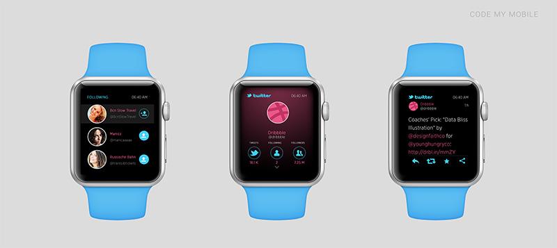 apple watch twitter1 A quoi ressembleront les applications sur lApple Watch ?