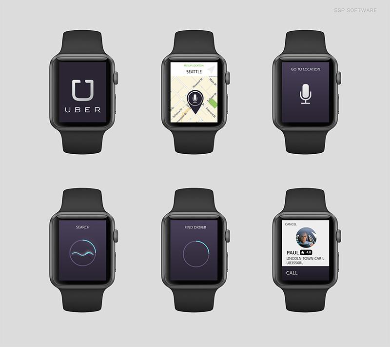 apple watch uber A quoi ressembleront les applications sur lApple Watch ?