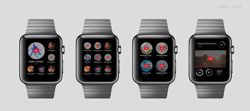 apple watch youtube1 A quoi ressembleront les applications sur lApple Watch ?