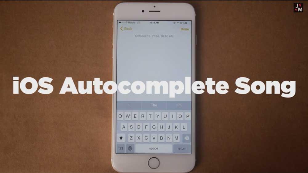 chanson iOS8 Quand la fonction Prédiction de liOS 8 se met à la chanson