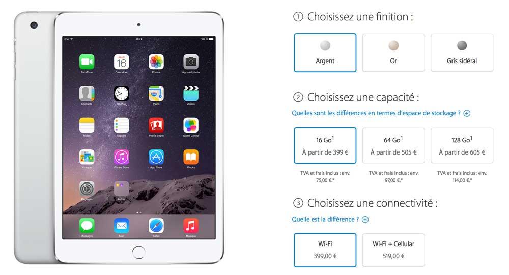 iPad mini 31 Les précommandes des nouveaux iPad sont ouvertes
