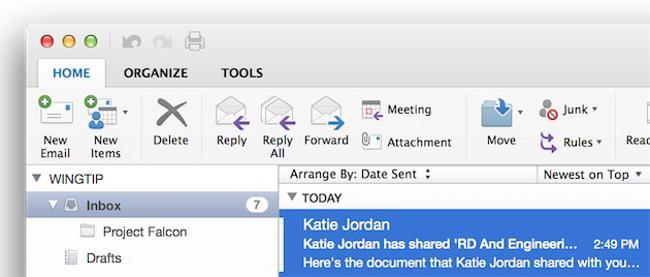 mise a jour Microsoft Outlook pour mac 2 Mise à jour de Microsoft Outlook pour Mac