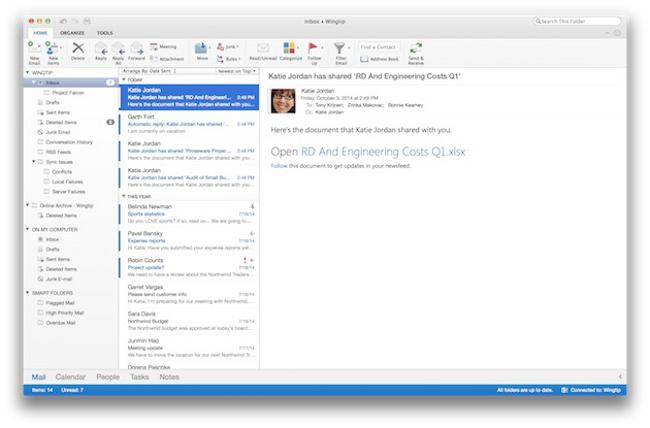mise a jour Microsoft Outlook pour mac Mise à jour de Microsoft Outlook pour Mac