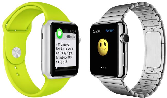 Apple Watch Messages Emoji 5 Caméra FaceTime, WiFi amélioré et nouveau modèle pour lApple Watch 2 ?