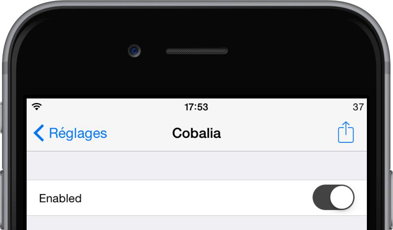 Cydia] Cobalia change l'utilité de la section contact du