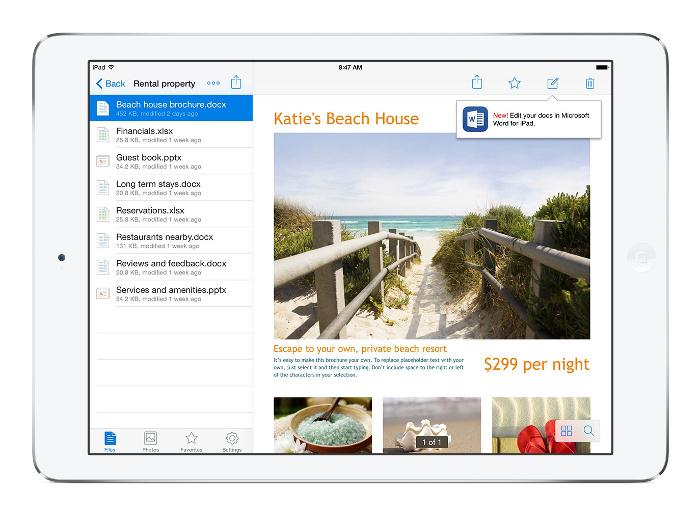 Microsoft Office desormais integre a Dropbox iOS Microsoft Office désormais intégré à Dropbox iOS