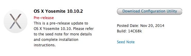 OS X Yosemite 10.10.2 developpeurs Apple a lâché OS X Yosemite 10.10.2 pour les développeurs