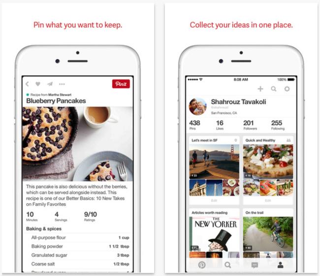 Pinterest 4.0 pour ios Pinterest 4.0 disponible avec une nouvelle interface iPhone