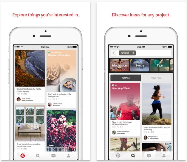 Pinterest 4.0 Pinterest 4.0 disponible avec une nouvelle interface iPhone
