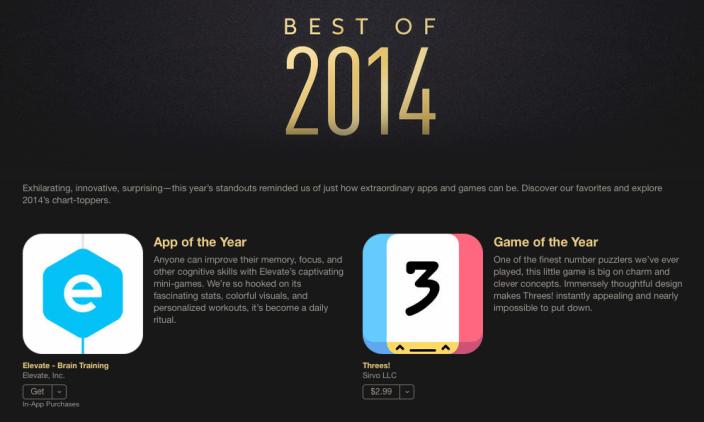 Apple iTunes Best of 2014 On connait les gagnants du iTunes Best of 2014 dApple