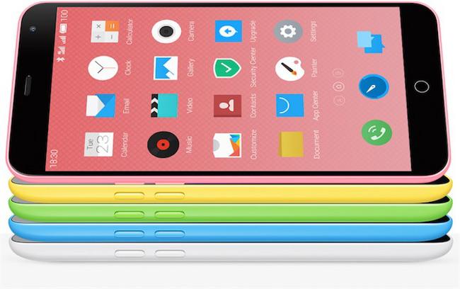 Meizu M1 Note 01 Meizu lance un clone de liPhone 5C doté dun écran de 5,5