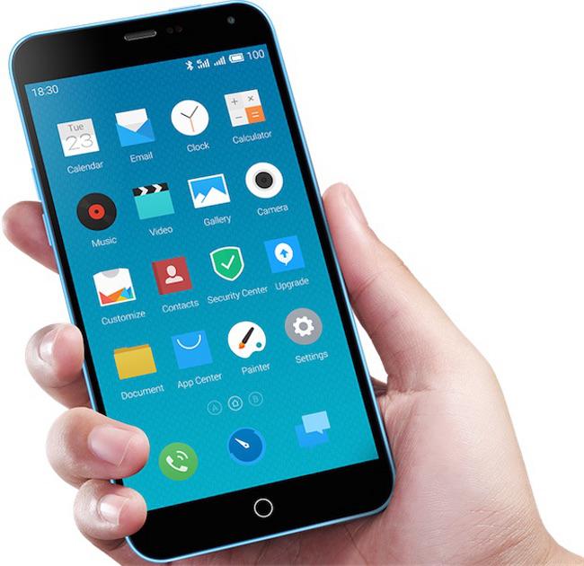 Meizu M1 Note 02 Meizu lance un clone de liPhone 5C doté dun écran de 5,5