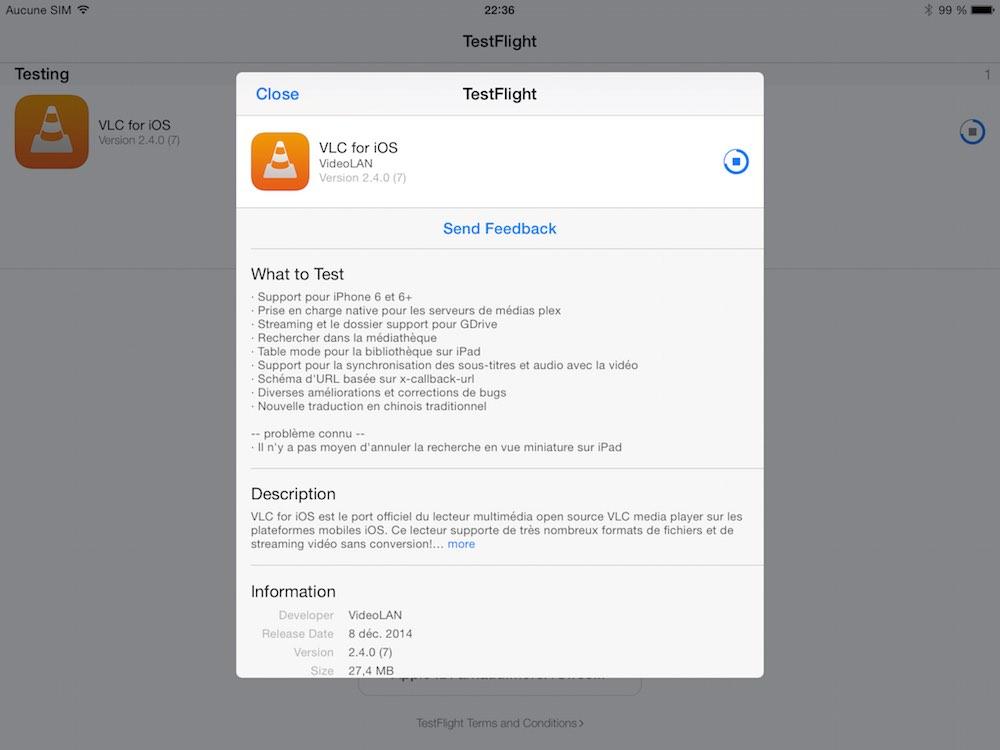Premiere beta du nouveau VLC pour iOS 02 La première bêta de VLC pour iOS est disponible