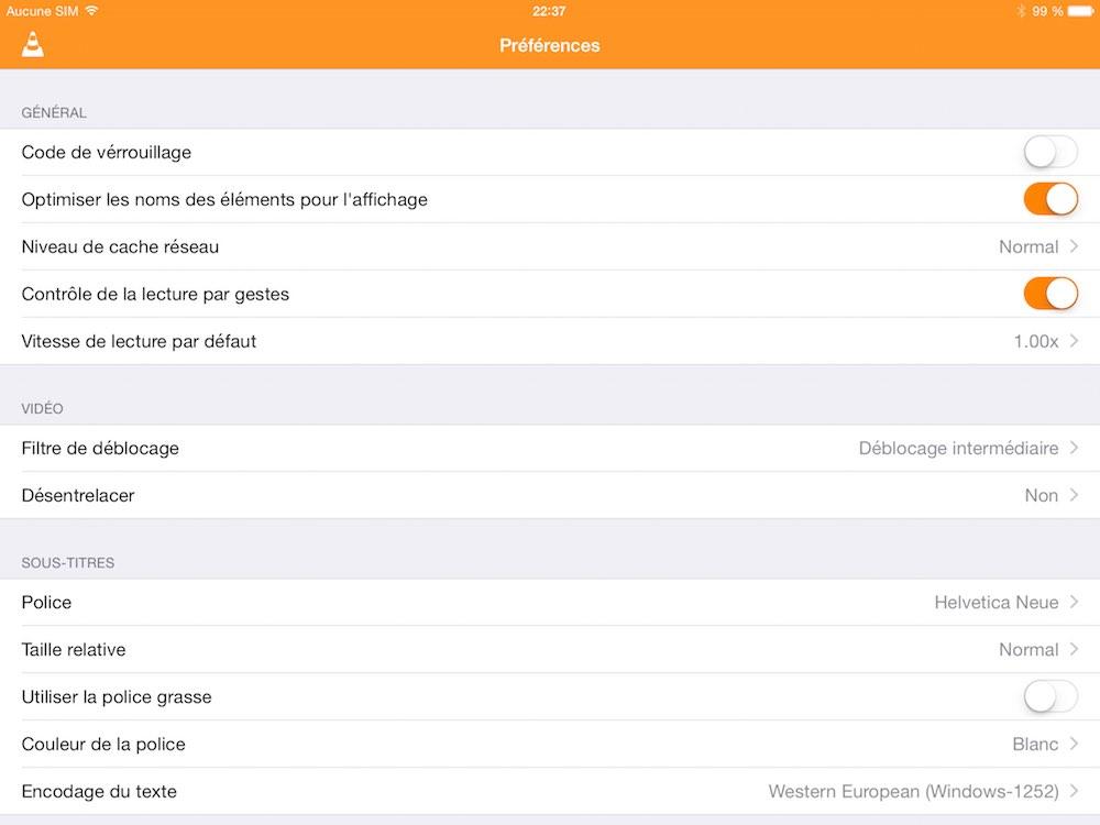 Premiere beta du nouveau VLC pour iOS 03 La première bêta de VLC pour iOS est disponible