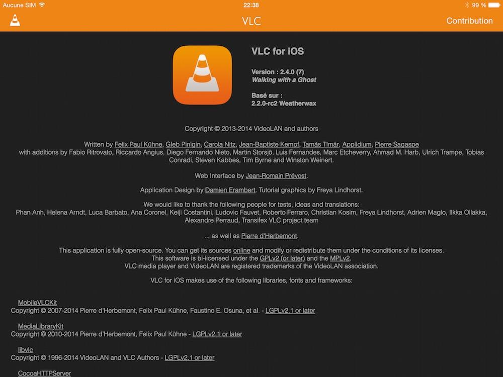 Premiere beta du nouveau VLC pour iOS 04 La première bêta de VLC pour iOS est disponible