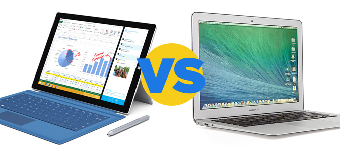 Surface Pro 3 vs MacBook Air Pub Microsoft Surface Pro 3 contre MacBook Air en France