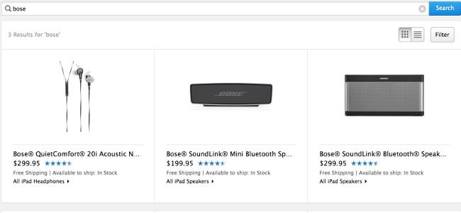 les produits bose de retour dans l apple store Les produits Bose reviennent dans les Apple Stores en ligne