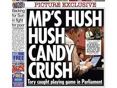 parlementaire britanique jouant a candy crush sur son ipad 02 Le parlementaire qui jouait avec son iPad au cours dun débat