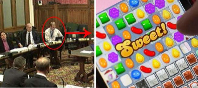 parlementaire britanique jouant a candy crush sur son ipad Le parlementaire qui jouait avec son iPad au cours dun débat