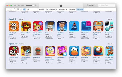 App Store nouvelle categorie pour les enfants App Store : Nouvelle catégorie pour les enfants