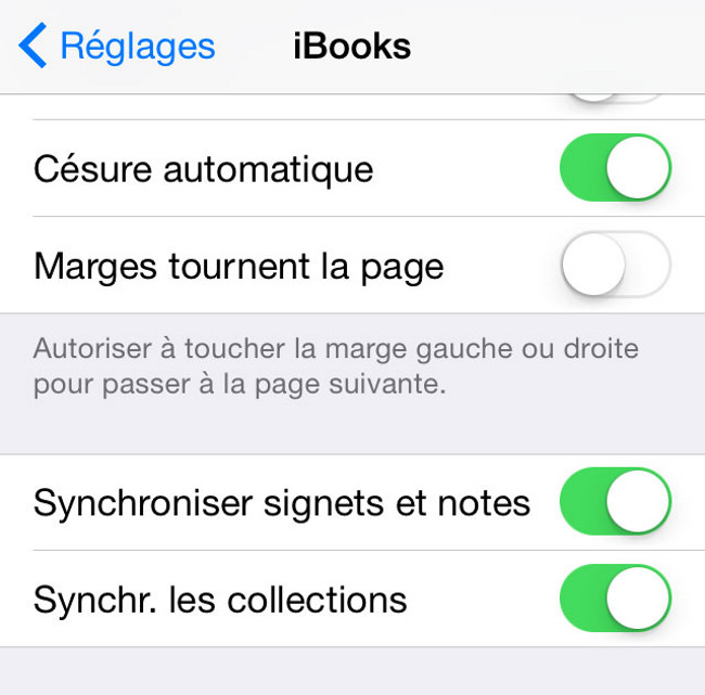 Synchronisation iBooks 2 Astuces : Synchroniser signets, notes et collections avec iBooks