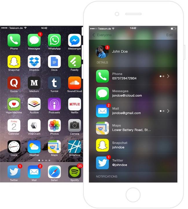 Voici comment l app Contacts pourrait etre sur iOS 9 002 Voici comment lapp Contacts pourrait se présenter sur iOS 9