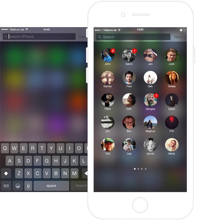 Voici comment l app Contacts pourrait etre sur iOS 9 Voici comment lapp Contacts pourrait se présenter sur iOS 9