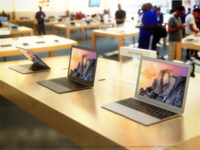 concept MacBook Air 2015 11 La production de masse du MacBook Air furtif aurait débuté