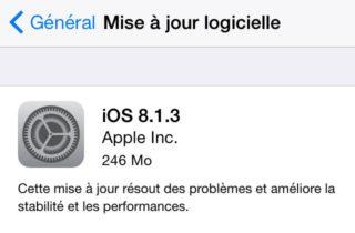 iOS 8.1.3 est disponible