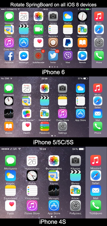sbrotator8 2 [Cydia] SBRotator revient pour iOS 8 !