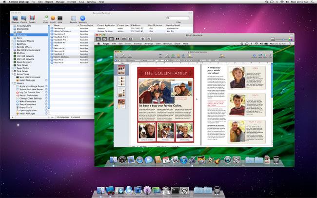 Apple Remote Desktop La version 3.8.2 v1.1 dApple Remote Desktop disponible