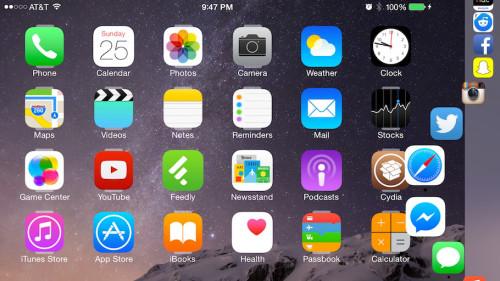 Harbor tweak 2 500x281 [Cydia] Harbor, le dock OSX sur iOS 8