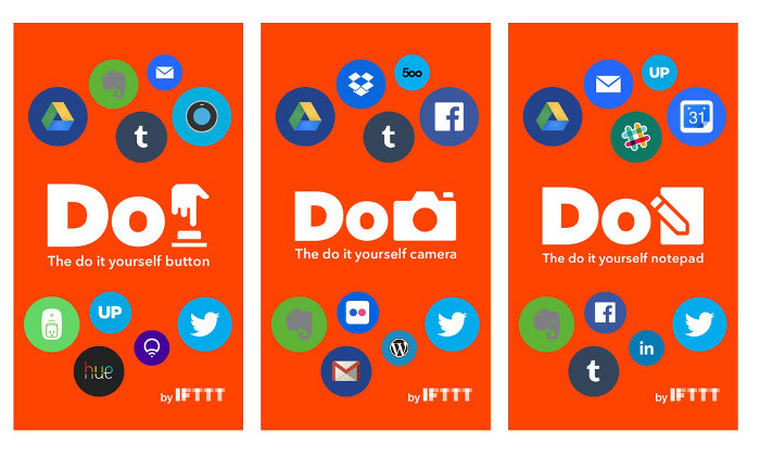 IFTTT Do Camera Do Note et Do Button IFTTT propose 3 nouvelles apps dautomatisation simplifiées