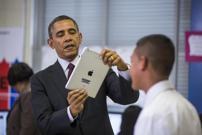 Obama fan d apple Barack Obama fan de liPhone depuis le premier modèle